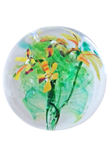 wild flowers cremation nugget by lorna reade at ashes in glass