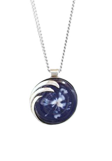 misty flower memorial glass pendant
